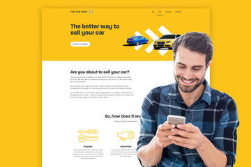 The Car Spot - new website for used car business